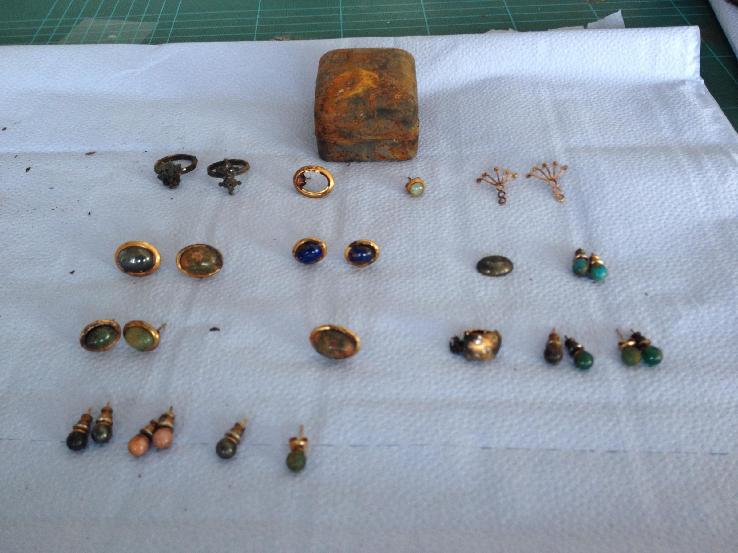 Fire damaged jewellery found in Leigh
