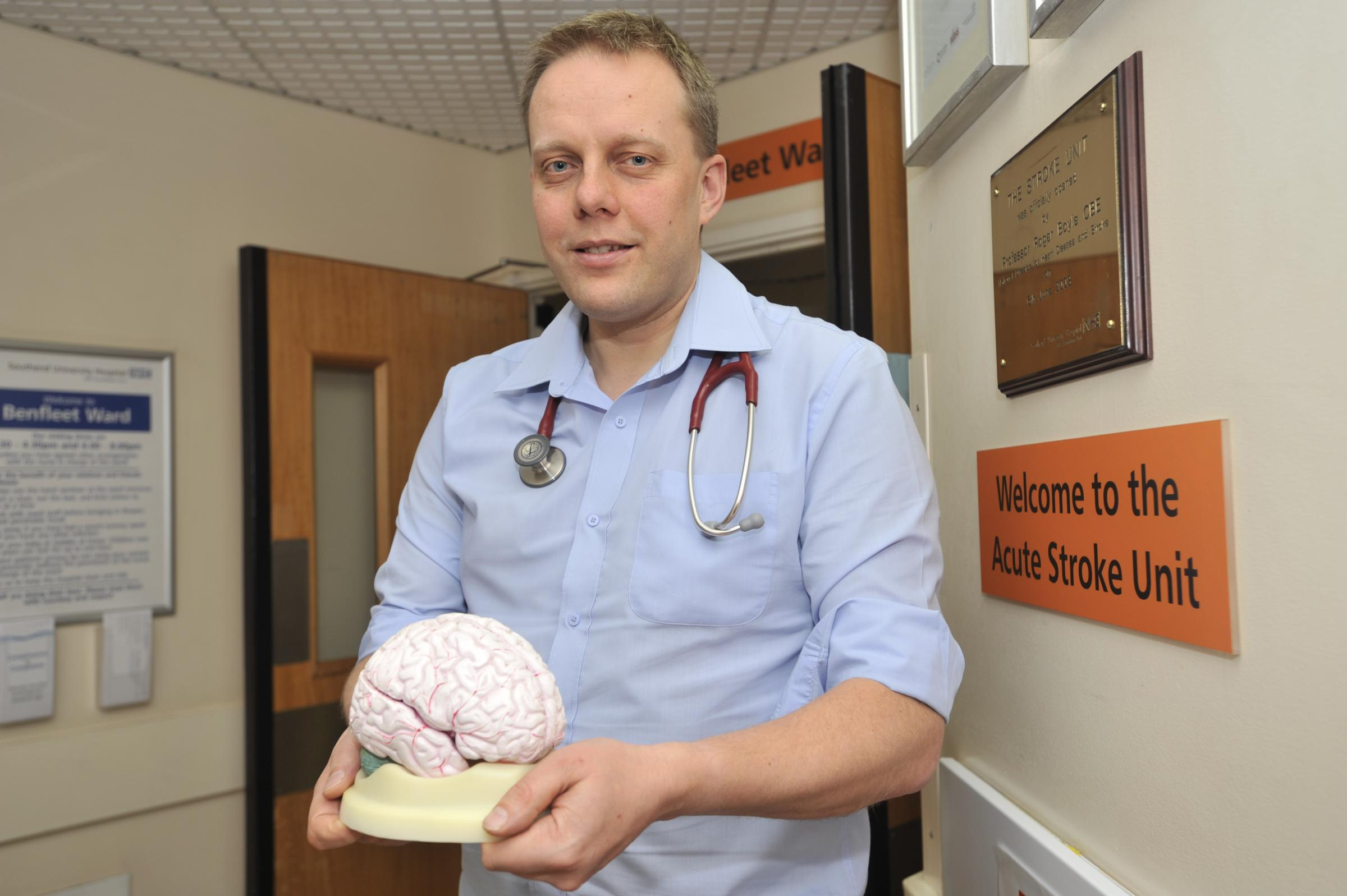 Southend stroke specialist - Dr Paul Guyler says a single super-unit in Southend would be best for patients from all over Essex