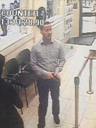 CCTV stills of Rayleigh man wanted for fraud