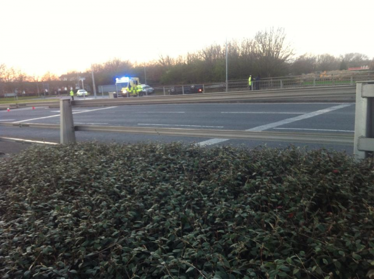 Chaos as main roads closed in Basildon because of overturned car