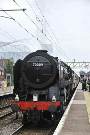 Train: A steam train on a previous journey through Southend Central station