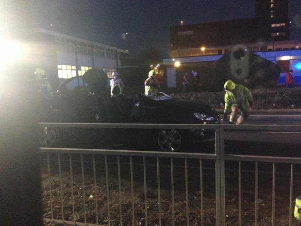 Echo: Four vehicle crash on Basildon's Broadmayne