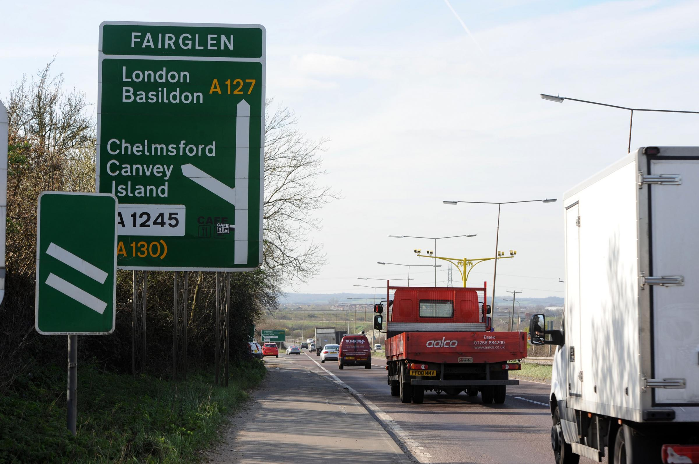 Traffic has been delayed around theFairglen Interchange after a van broke down on the roundabout
