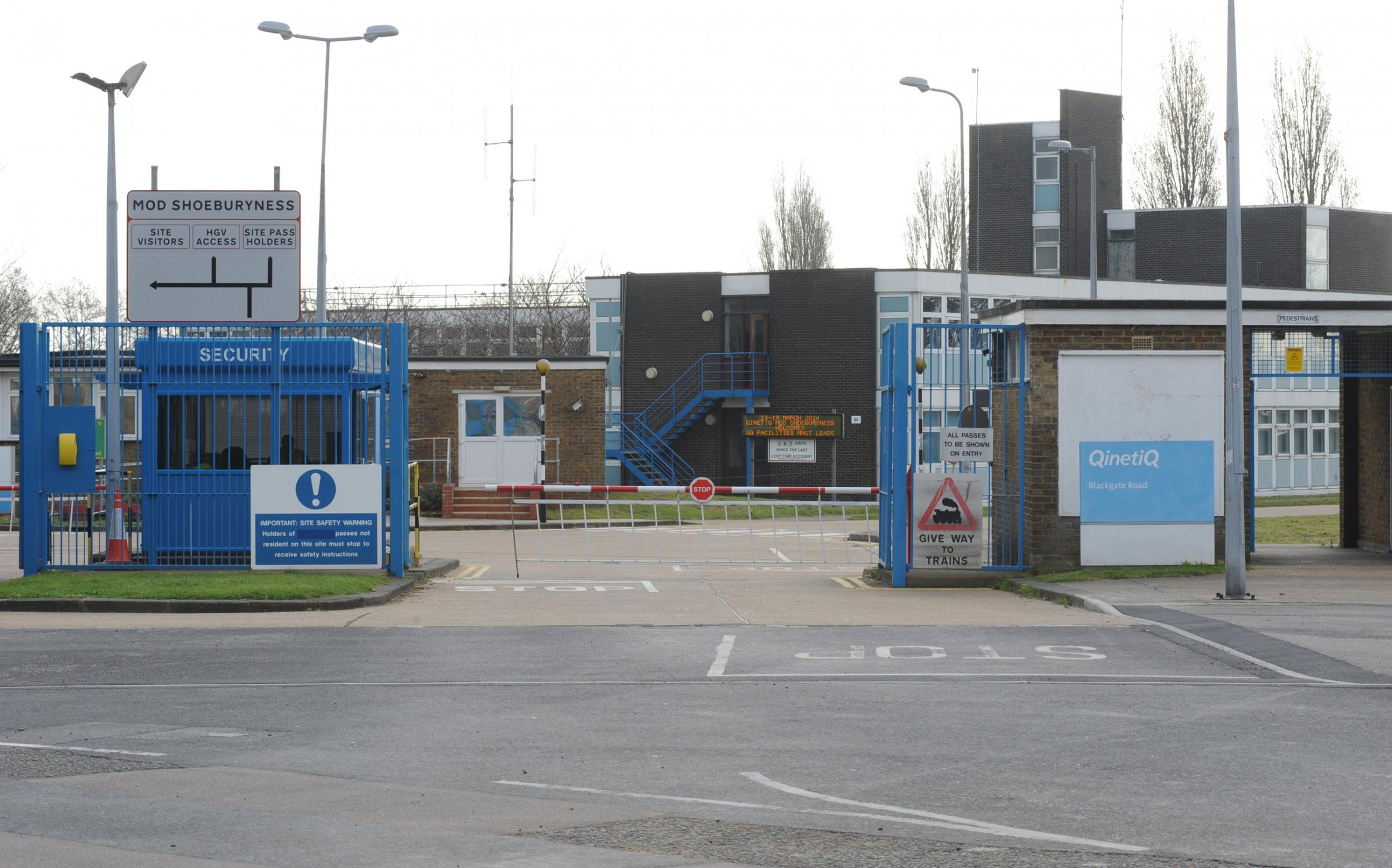 Headquarters - the QinetiQ site in Shoebury