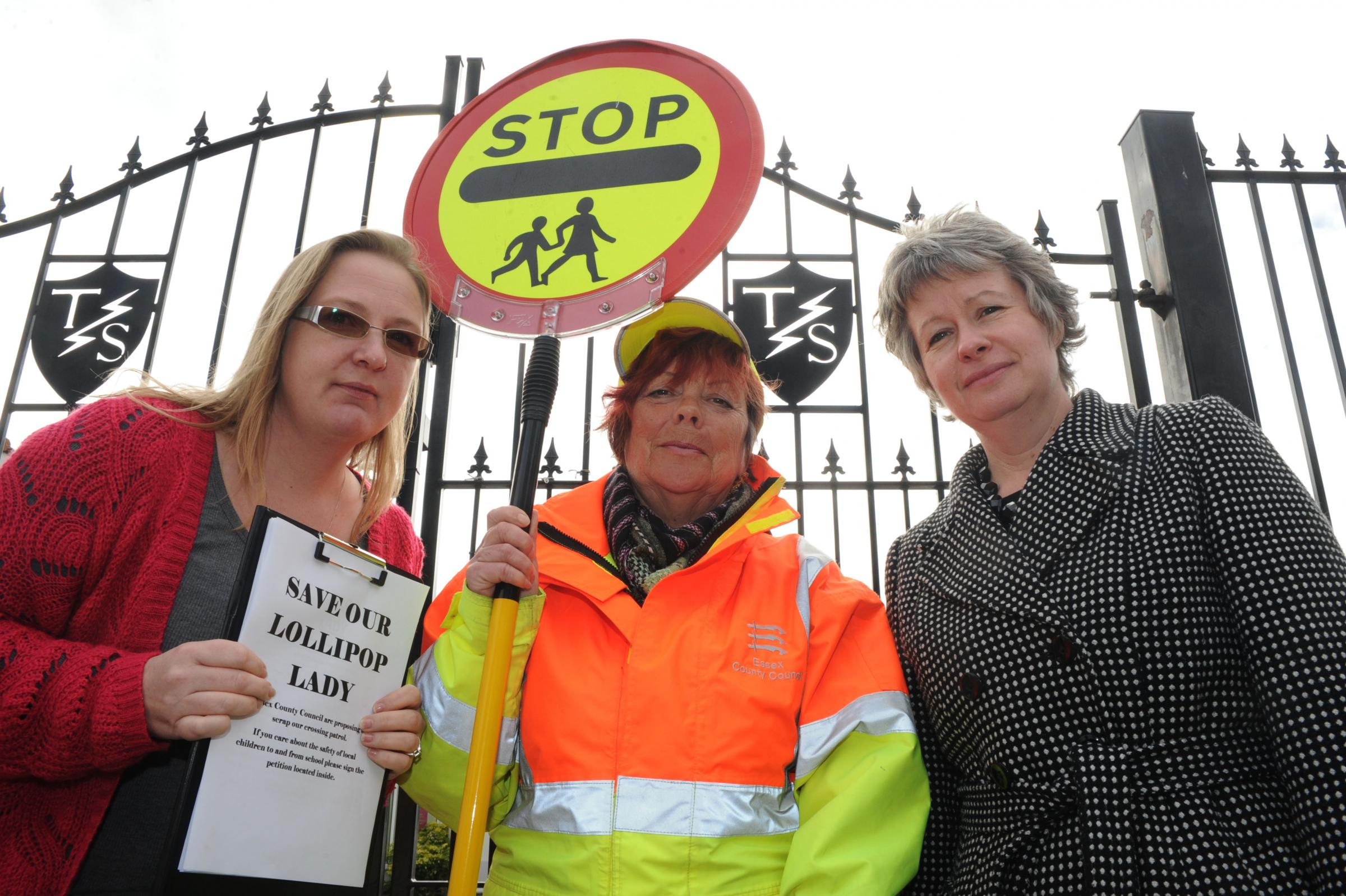 Sarah Ellis - concerned parent, Angela Alden and Emma Dawson - head teacher at Thundersley Primary School