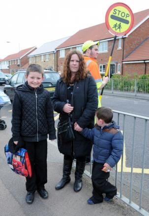 Backing our campaign – mum Sarah Steel with her boys, Phillip and Charlie