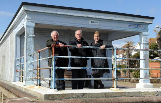 Campaigners Bob Craven, Mike Stafford and Elspeth Jones.