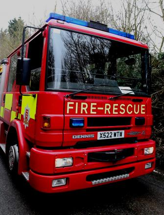 Arsonists set fire in bin area close to flats