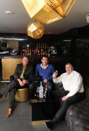 New look – Ian Reading, Andy Wagstaff and Pete Ferrant inside the bar