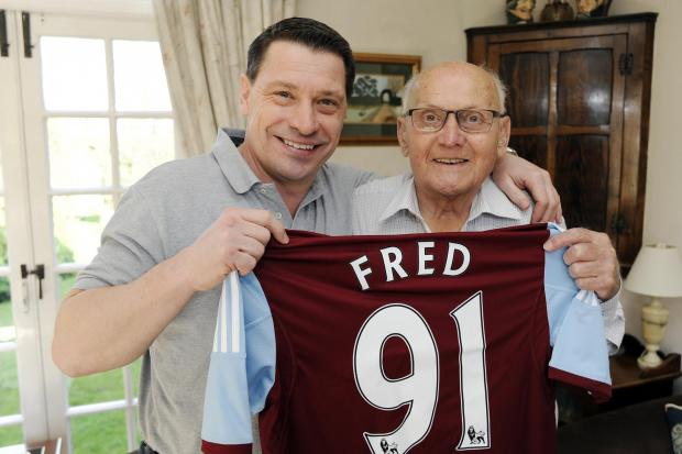 VIDEO: Birthday surprise for Fred as West Ham great Tony Cottee drops in for tea