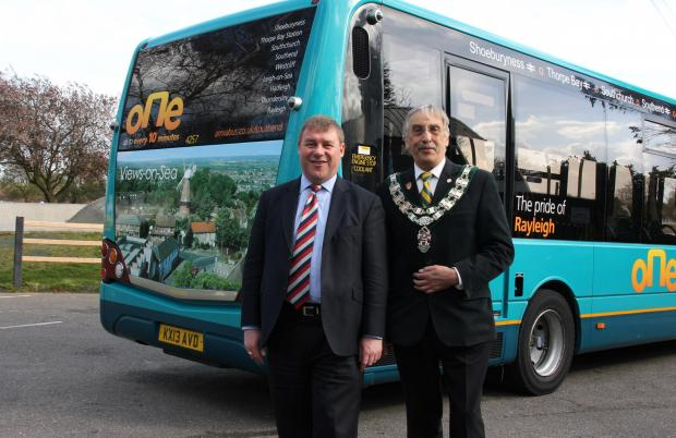 Echo: Mark Francois MP and Rayleigh Town Council Chairman launch The Pride of Rayleigh