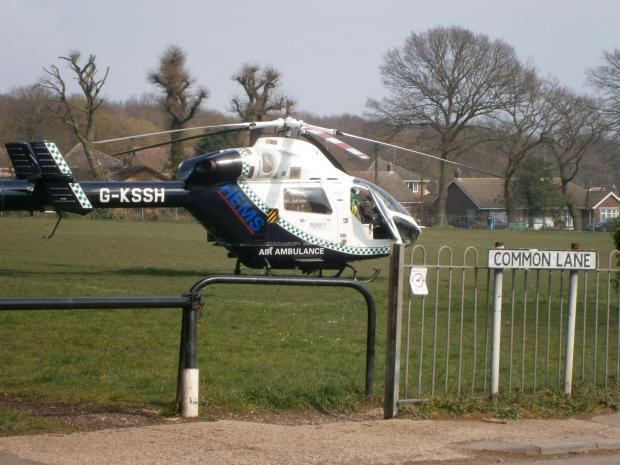 Air Ambulance called to Thundersley