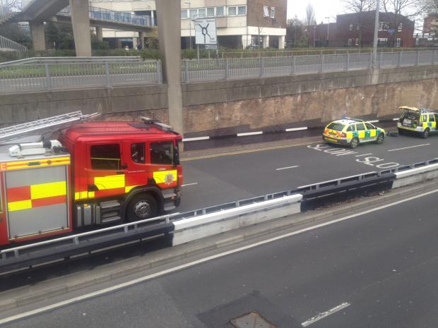 Echo: Queensway closed for repairs following biker crash
