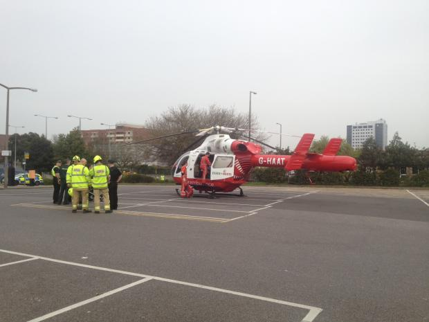 The Air Ambulance at Warrior Square car park