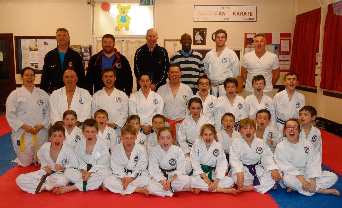 Students from Stock Shotokan Karate Club with their instructors