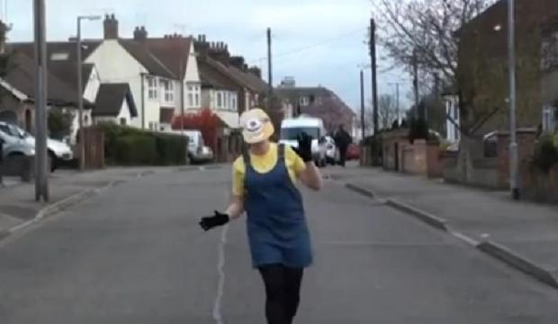 Echo: A Despicable Me minion makes an appearance as Stanford-le-Hope does happy