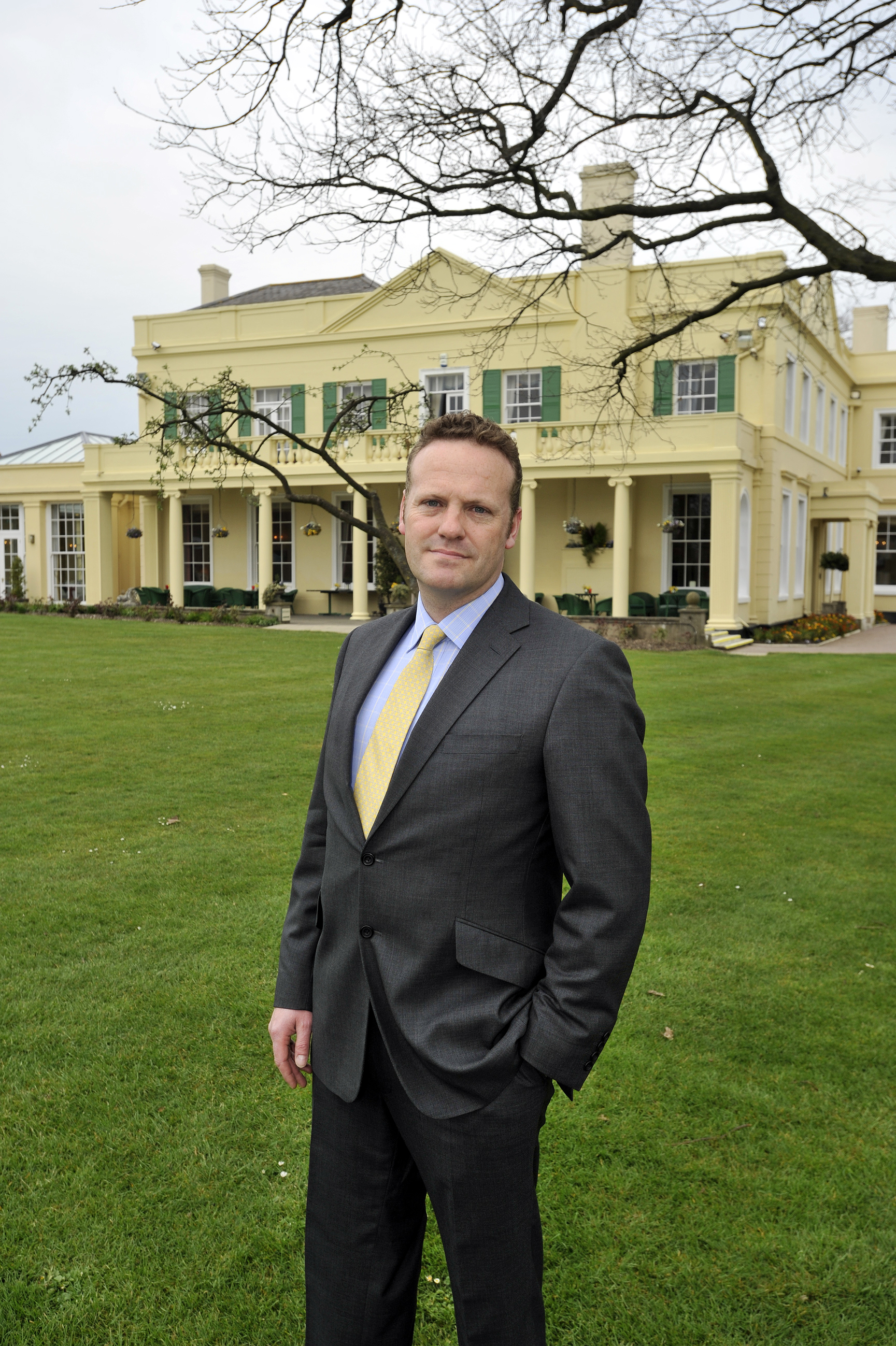 Cutting bills - managing partner David keddie outside the wedding and event venue, where 475 sq m of the grounds will be covered in solar panels