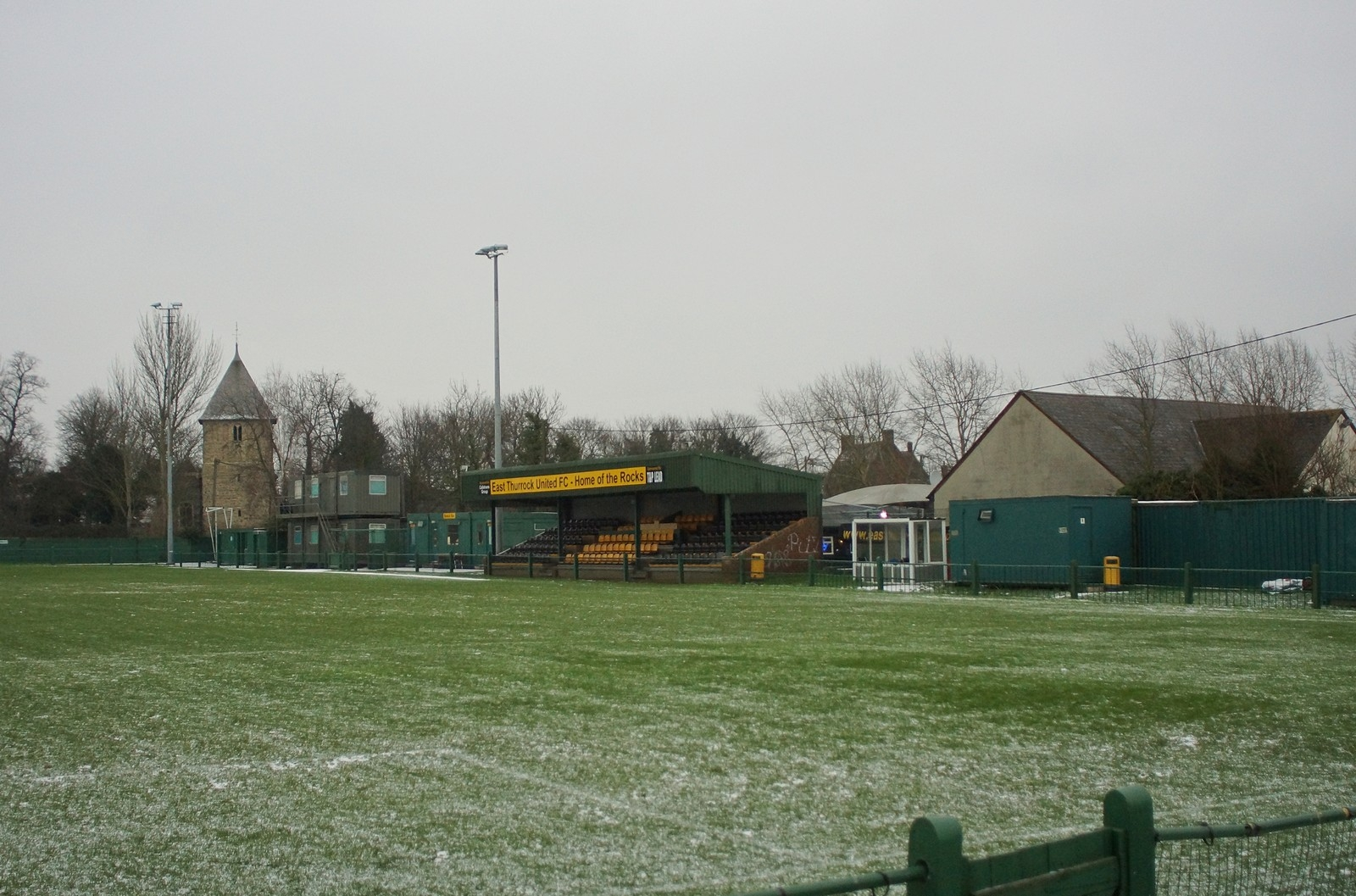 East Thurrock United's current ground, Rookery Hill. The club are looking to sell this land for housing and move elsewhere. [Pic - Mikey Cartwright/Ponderosa Pix]