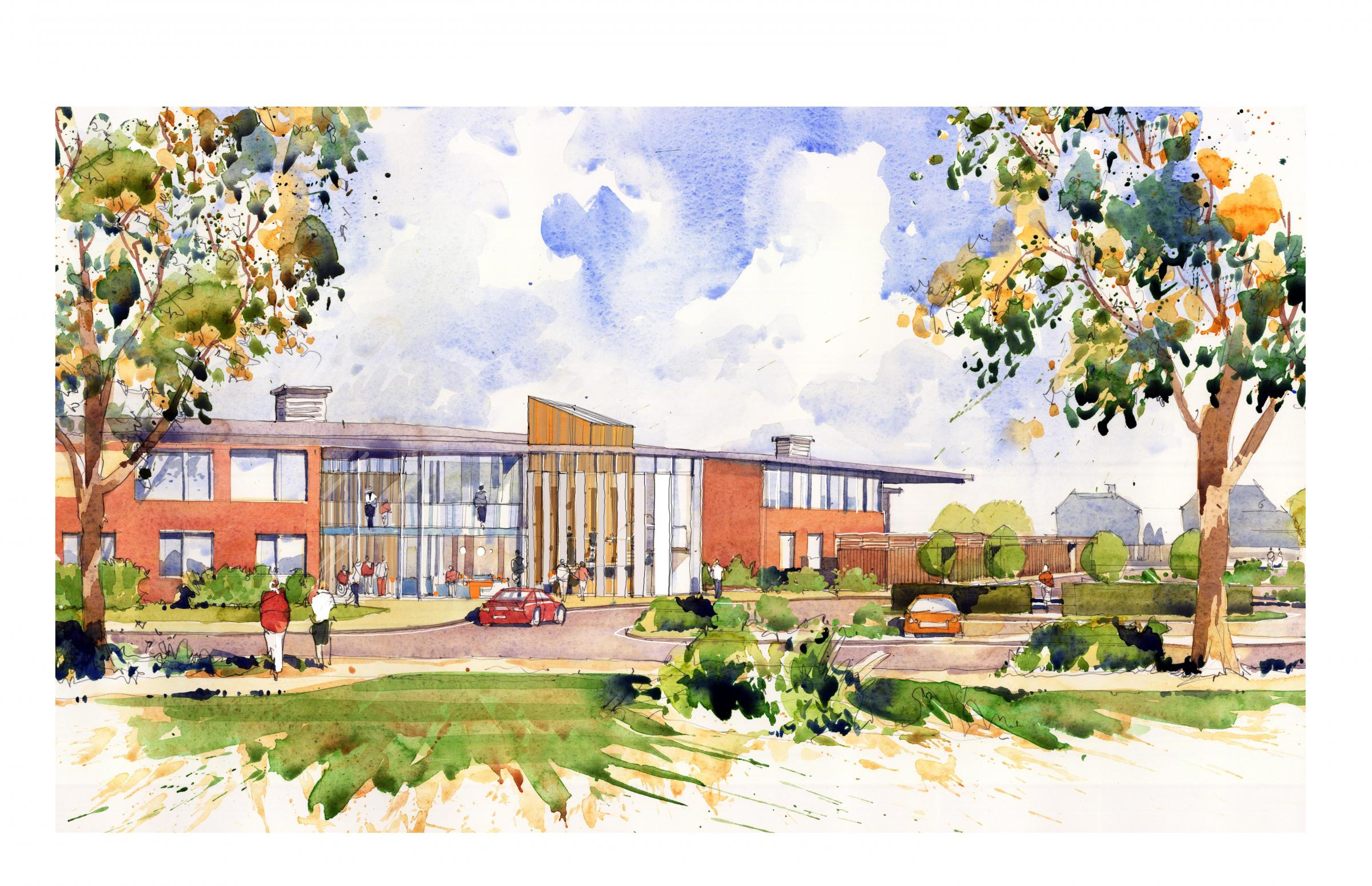 An artist's impression of the new hospice