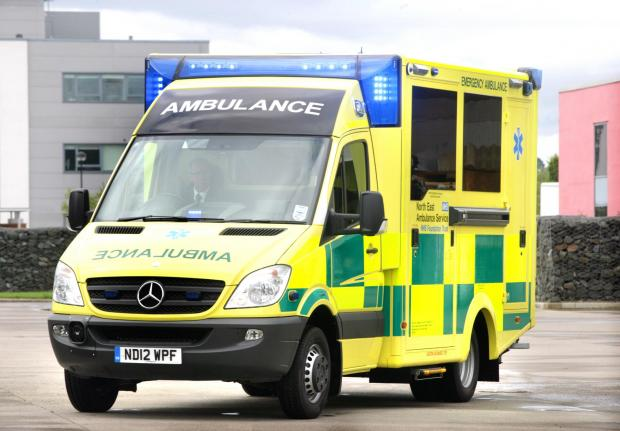 The ambulance was manned by two trainee paramedics