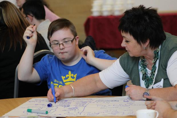 Successful day – one of the young people at the event in Pitsea