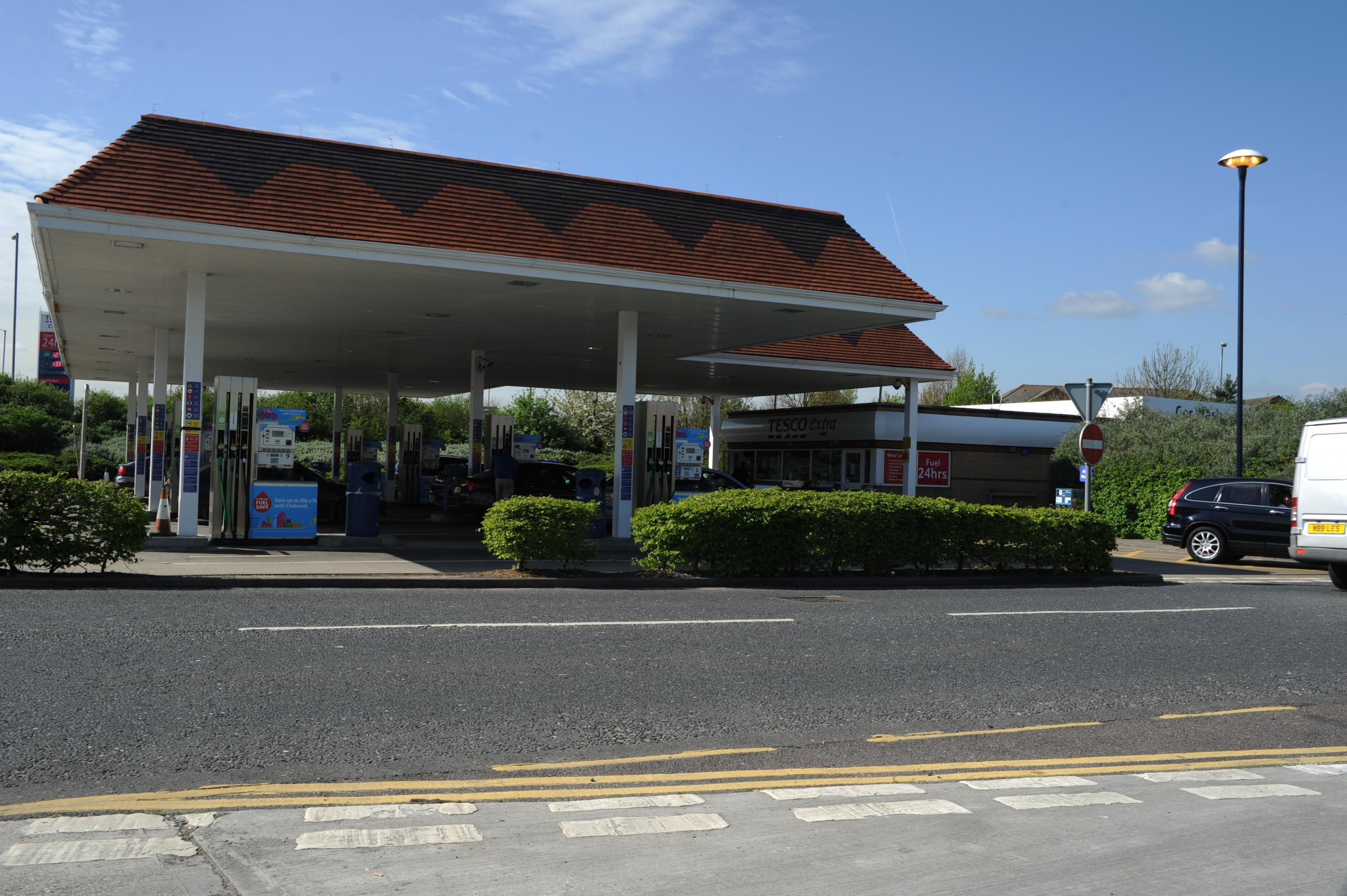 The petrol station
