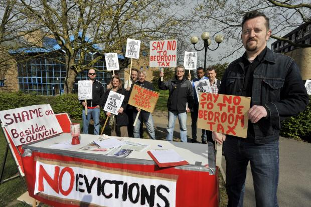 Echo: Dave Murray with residents of the 'Residents Against the Bedroom Tax' campaign group