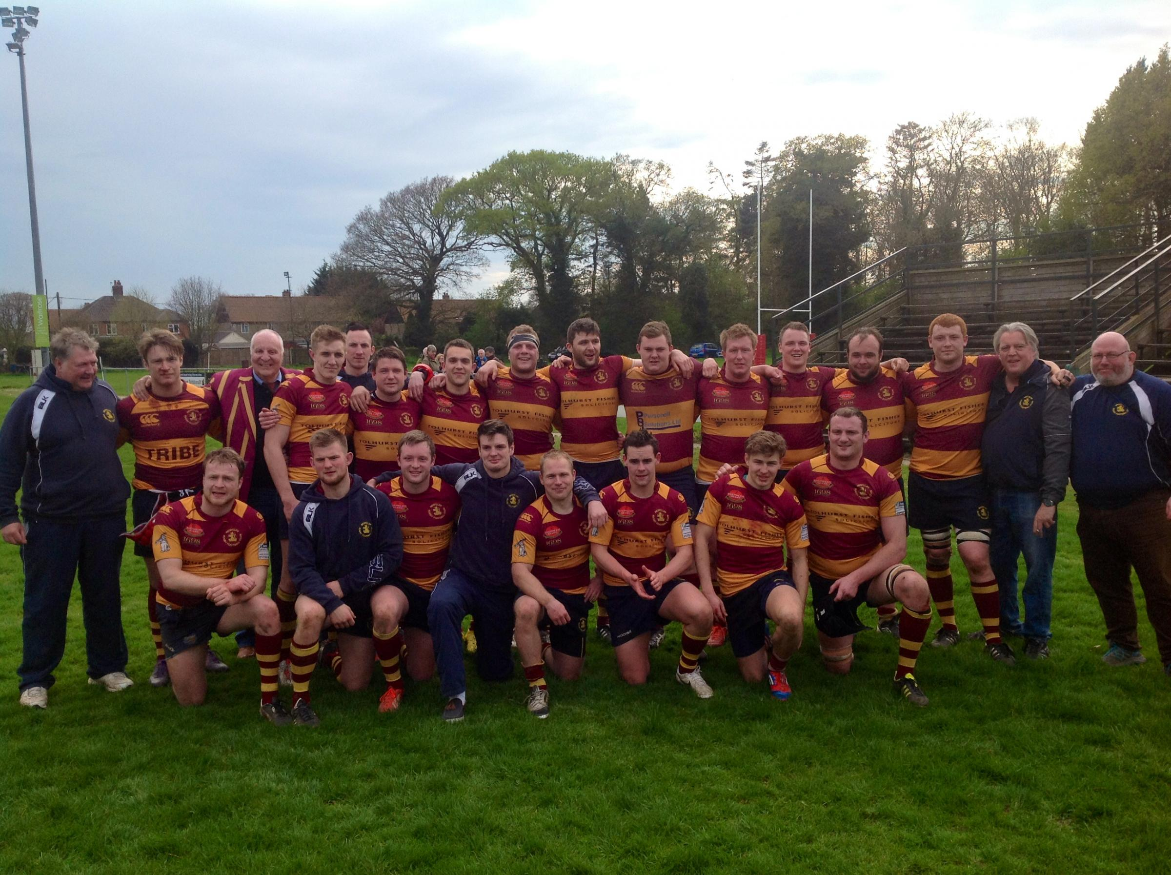 Top team — Westcliff RFC's first XI have returned to the national leagues after being crowned London One North champions