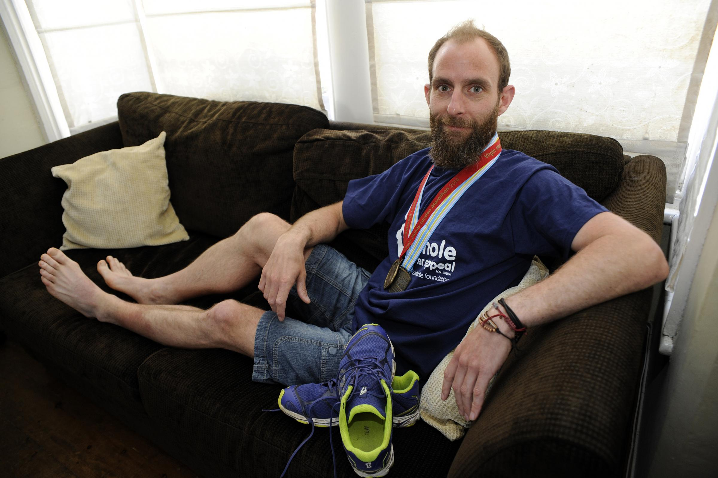 Medals of honour - Dean ran 262 miles in eight days