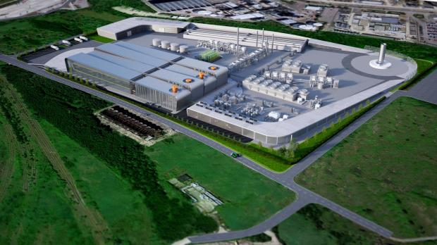 An artists' impression of the proposed waste-to-jet fuel centre