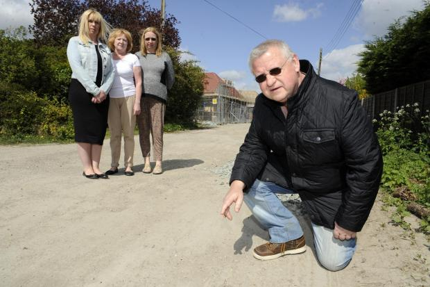 Echo: Angry - residents say developers have ruined their road
