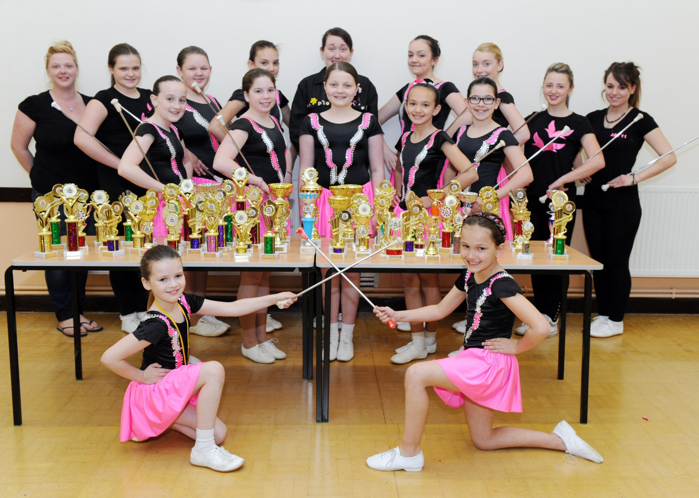Victorious – the Laindon Suzettes proudly show off their haul of trophies