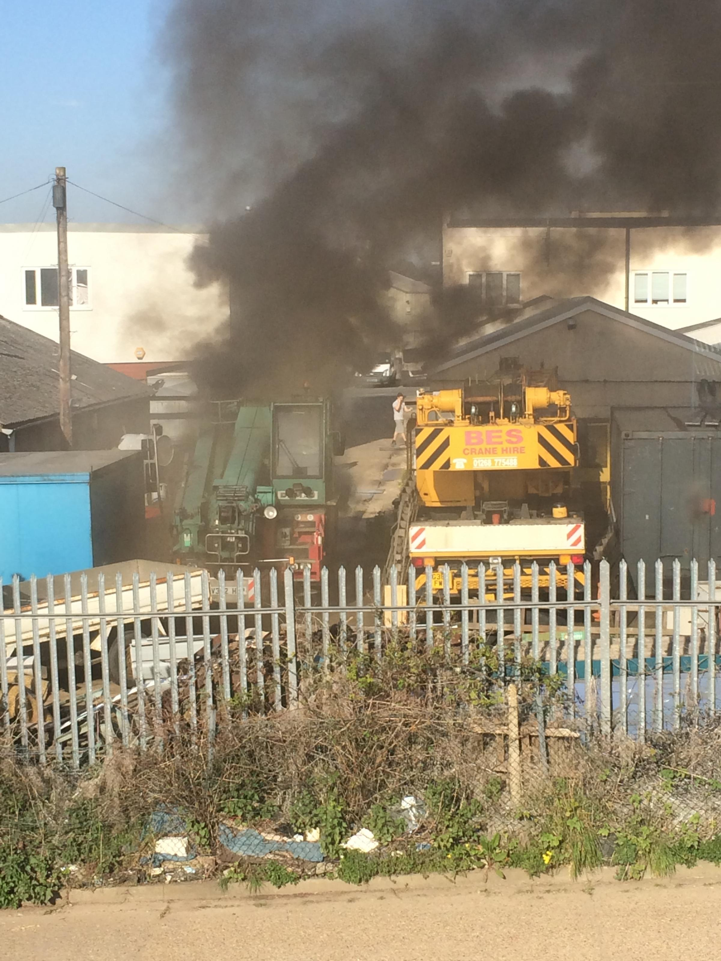 Crane up in smoke as Rayleigh building business loses £0.5million equipment
