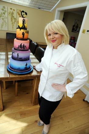 Worldwide hit - claire Anderson with her cake
