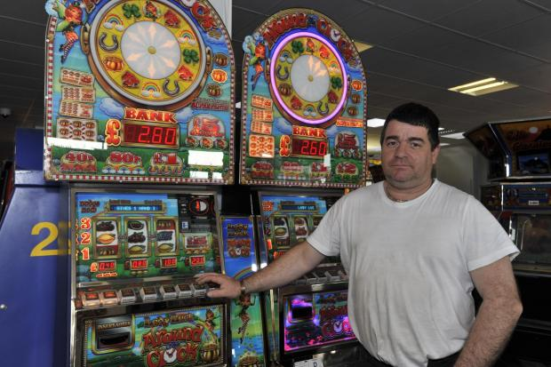 Not happy – the Happidrome's Martin Richards says the new pound coin will leave him out of pocket as he will have to change and reprogramme all the slots on his machines