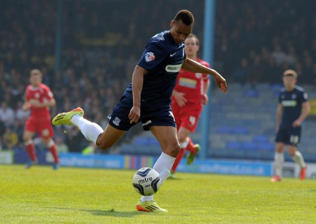 Jacob Murphy on the ball for Southend United against Accrington