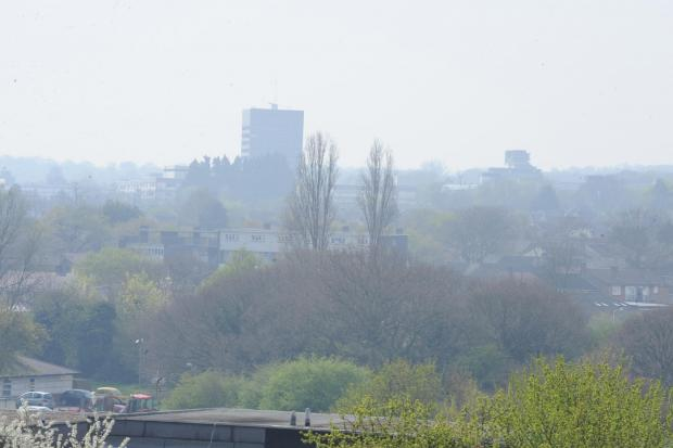 Echo: Smog over Basildon Hospital