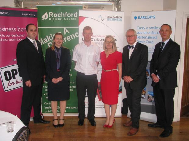 Echo: Steve Dyke, NatWest of Clare Whybrow of NatWest, Rob Robinson of Groundwork, Susan Rom of BIZPhit, Shaun Scrutton of Rochford District Council, Christian Rudbeck of Bar