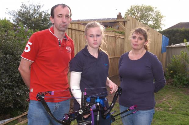 Rebecca Griffin, step mum Suzie Figgins and dad Tony Griffin