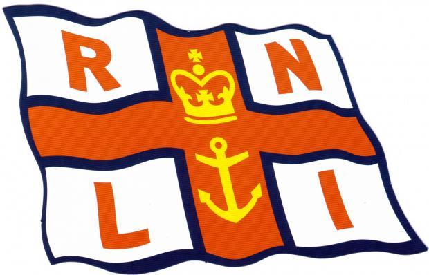Lifeboat crew helps man on mudflats