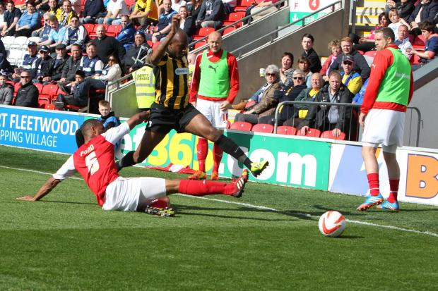 Anthony Straker - impressed after coming off the bench at Fleetwood Town