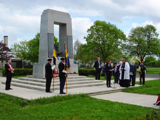 A rededication ceremony was held in East Tilbury on Sunday following the restoration of the Bata WWII memorial recently [Pics by Rob Lay]