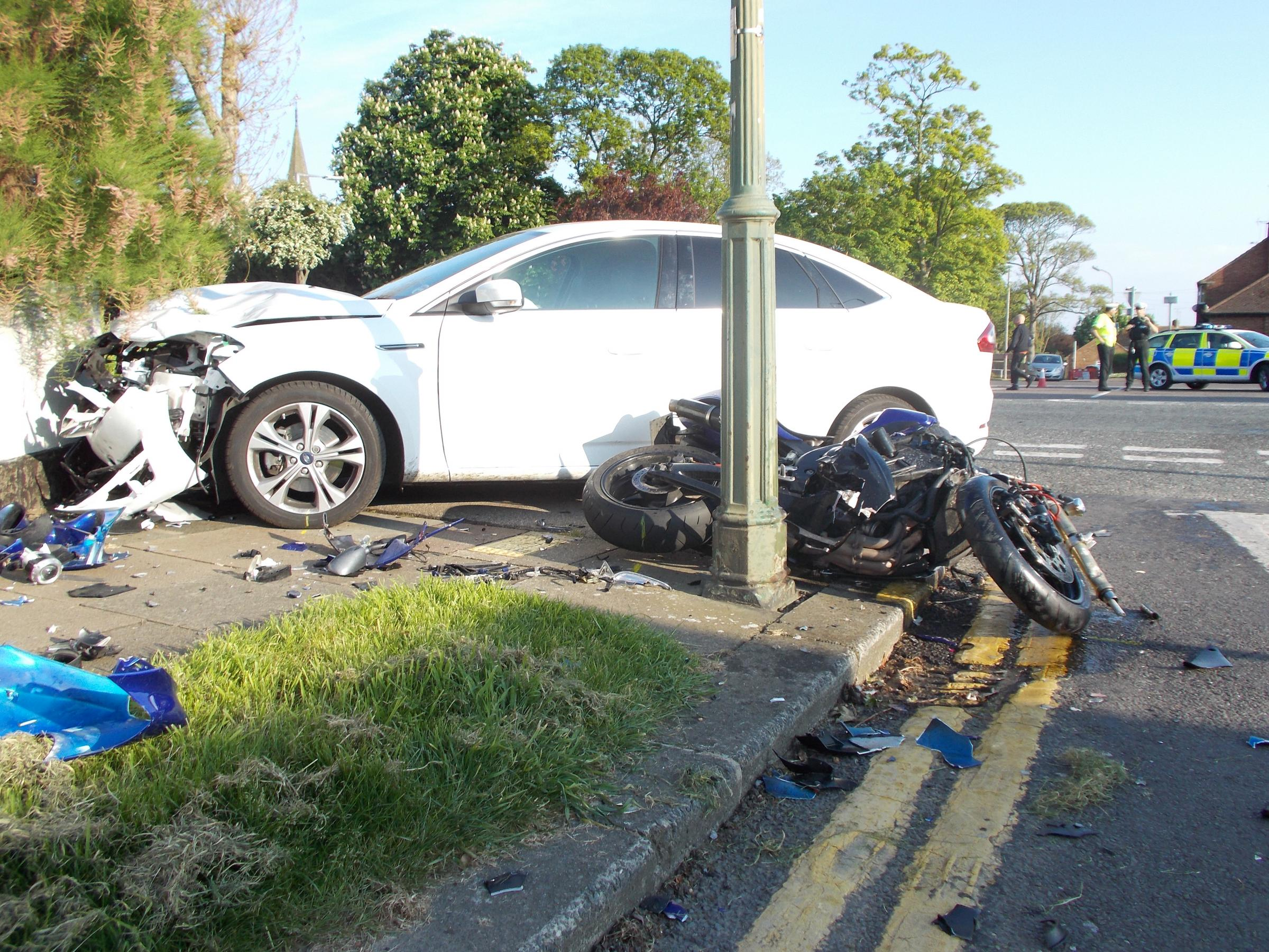 Crash in Southchurch. PICTURE BY IAN WEINFASS