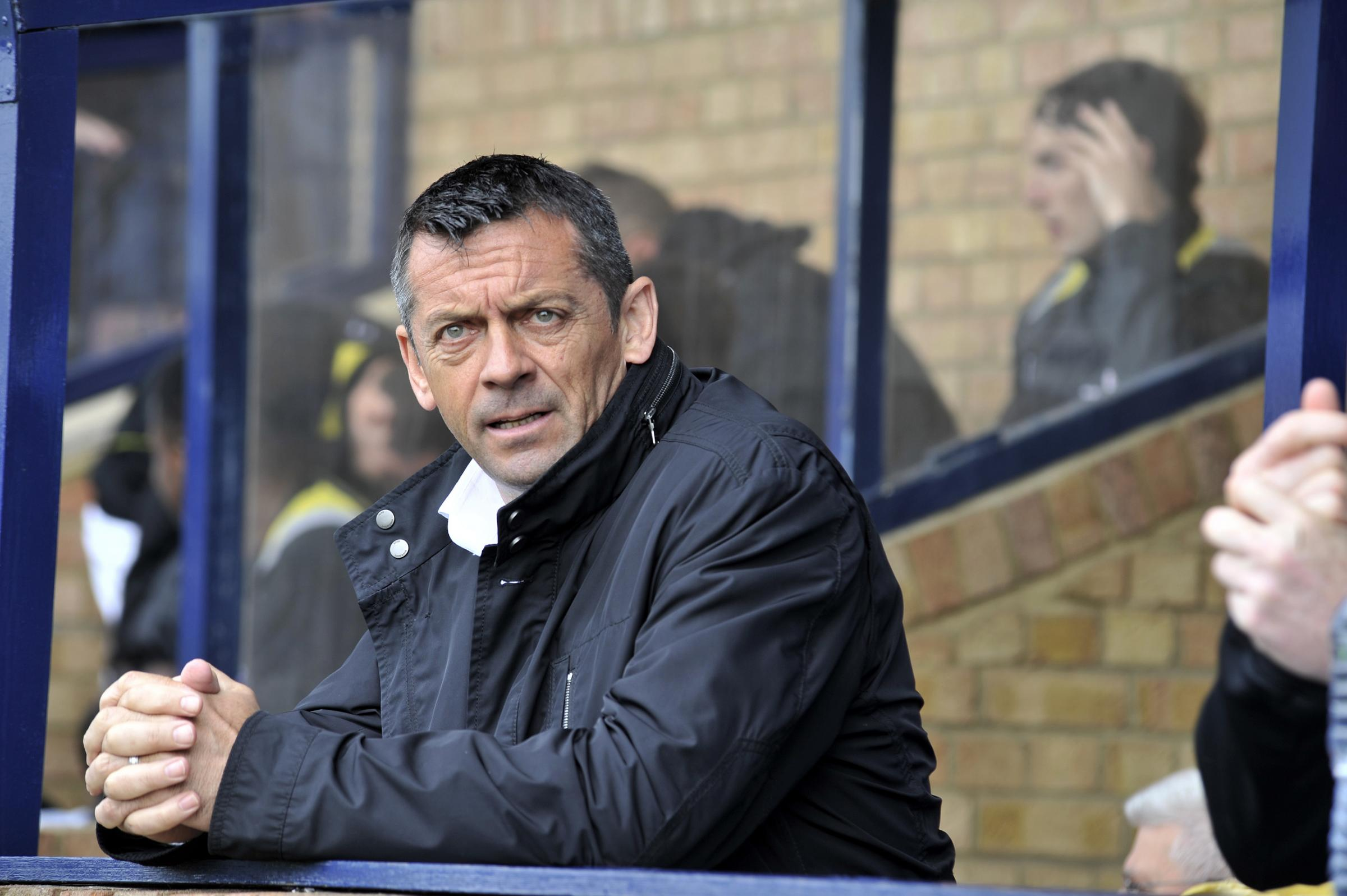 Phil Brown - will  continue to run the rule over the four trialists who featured in Saturday's 5-0 win at Great Wakering Rovers