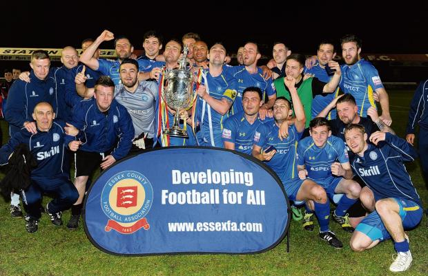 Concord celebrate the Essex Senior Cup