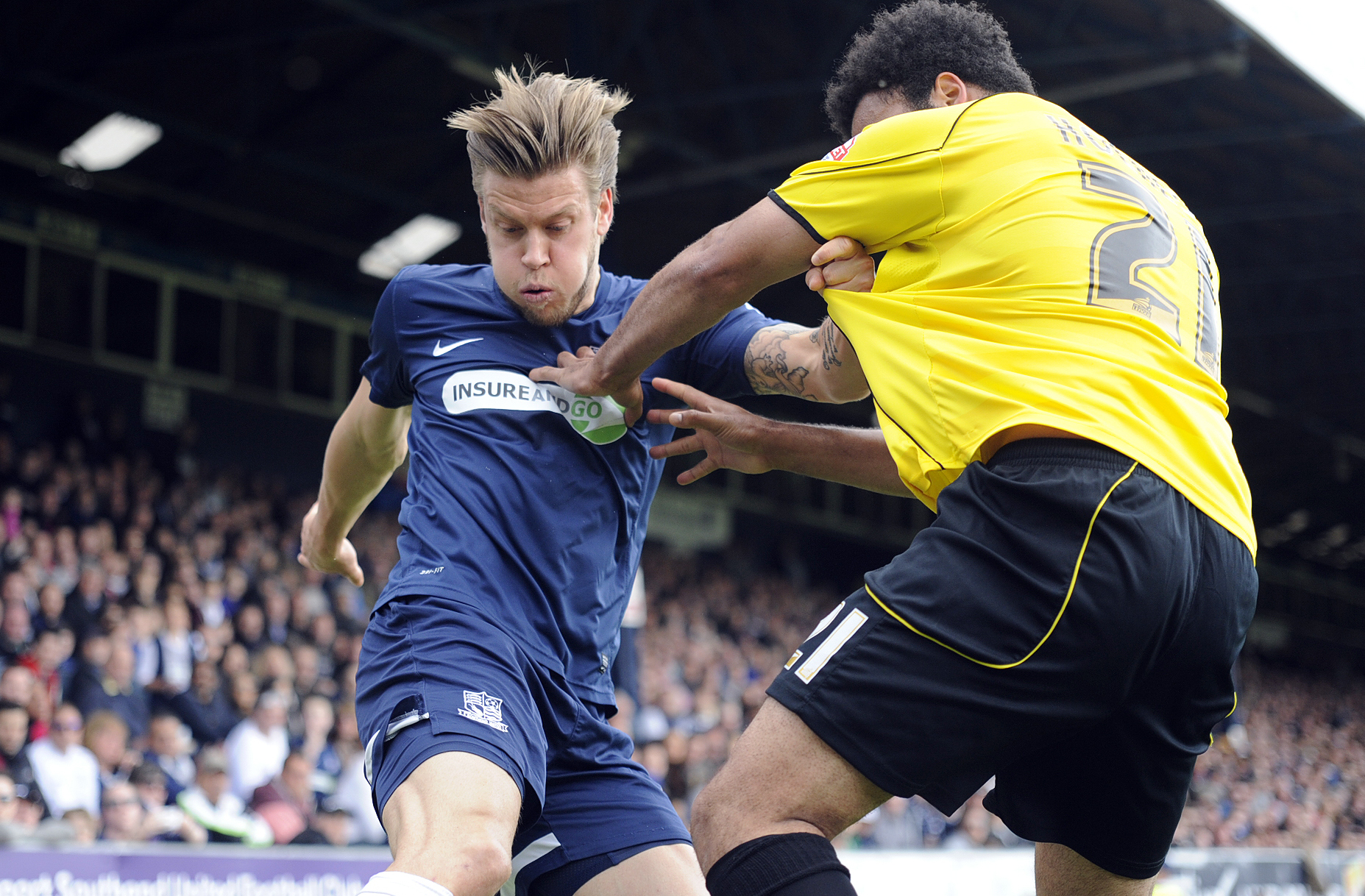 Kevan Hurst in action against Burton Albion on Saturday