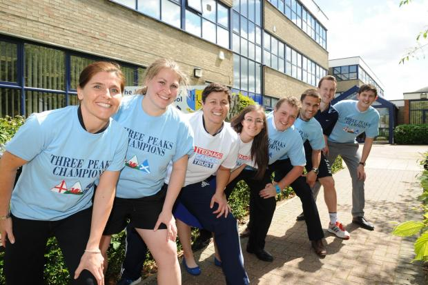 Teachers set to peak for charity battling teenage cancer