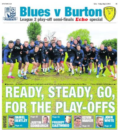 Friday Echo's features a 12 page pull-out on Southend United