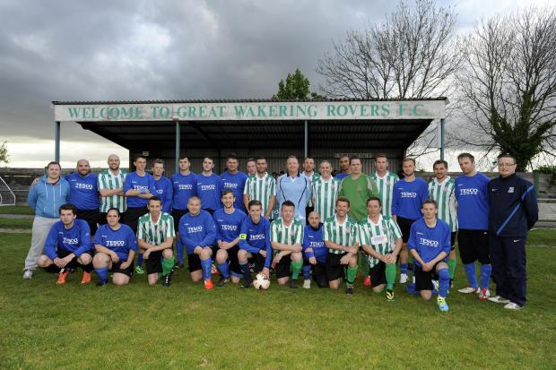Pitching in – the Tesco and Great Wakering Rovers sides