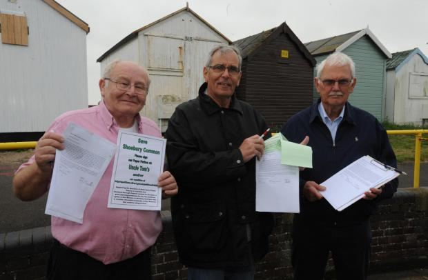 Peter Grubb, Peter Lovett and Ray Bailey, of the Friends of Shoebury Common